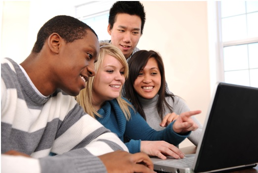 students learning 3